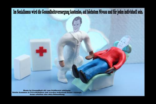 Im Sozialismus wird die Gesundheitsversorgung kostenlos, auf höchstem Niveau und für jeden individuell sein.